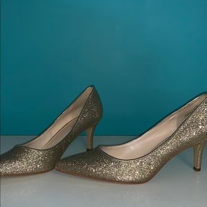 Nine West Golden Sparkly Heels